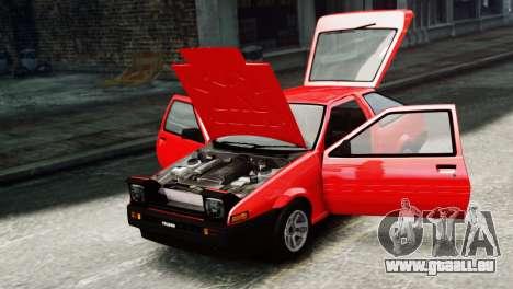 Toyota Sprinter Trueno AE86 SR pour GTA 4 est un droit