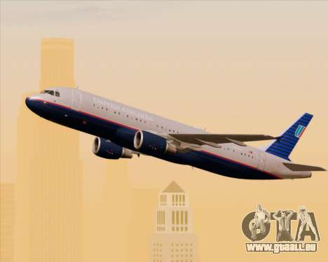 Airbus A320-232 United Airlines (Old Livery) pour GTA San Andreas vue intérieure
