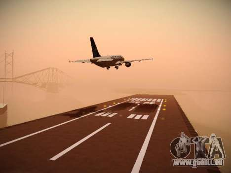 Airbus A320-211 Aigle Azur für GTA San Andreas Seitenansicht