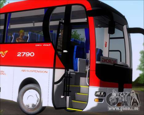 MAN Lion Coach Rural Tours 2790 für GTA San Andreas obere Ansicht