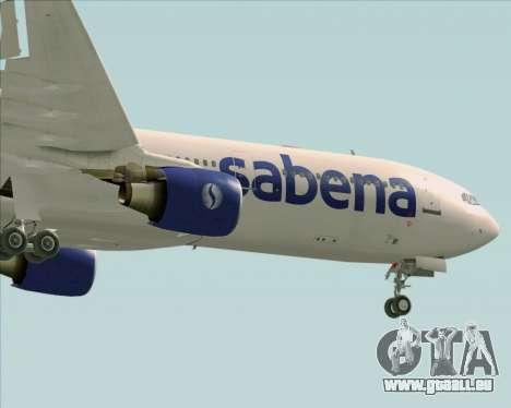 Airbus A330-300 Sabena für GTA San Andreas obere Ansicht