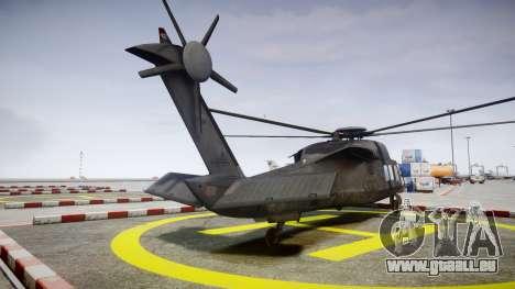Sikorsky MH-X Silent Hawk [EPM] v2.0 pour GTA 4 Vue arrière de la gauche