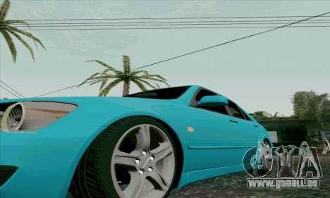 Toyota Altezza pour GTA San Andreas vue de côté