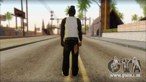 Afro - Seville Playaz Settlement Skin v6 für GTA San Andreas zweiten Screenshot