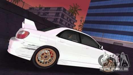 Subaru Impreza WRX 2002 Type 2 pour une vue GTA Vice City de l'intérieur
