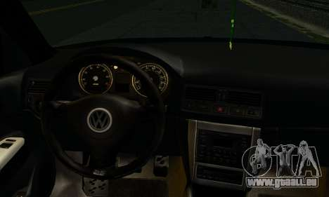 Volkswagen Golf IV pour GTA San Andreas sur la vue arrière gauche