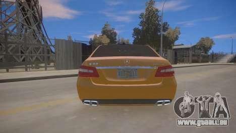 Mercedes-Benz E63 AMG для GTA 4 für GTA 4 rechte Ansicht