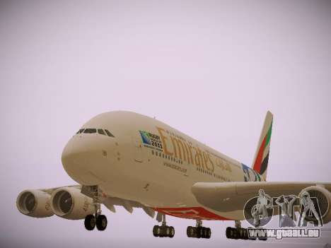 Airbus A380-800 Emirates Rugby World Cup für GTA San Andreas