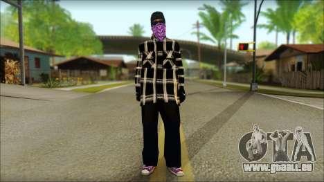 East Side Ballas Skin 3 für GTA San Andreas