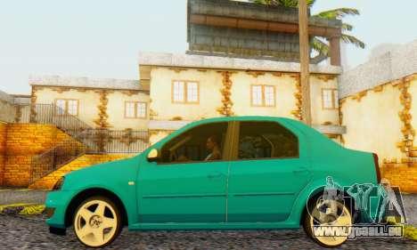 Dacia Logan Delta Garage für GTA San Andreas rechten Ansicht