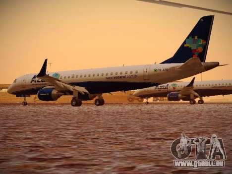 Embraer E190 Azul Brazilian Airlines pour GTA San Andreas vue de droite