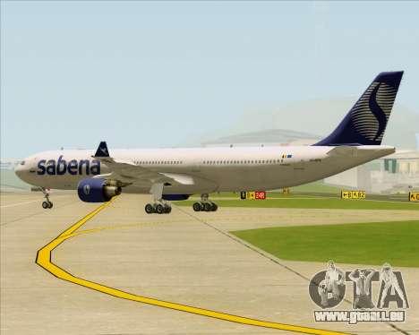 Airbus A330-300 Sabena für GTA San Andreas Rückansicht