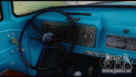 ZIL 130 de la Formation pour GTA San Andreas sur la vue arrière gauche