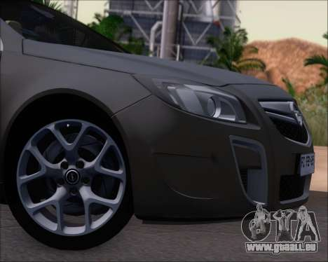 Opel Insignia OPC für GTA San Andreas Innenansicht