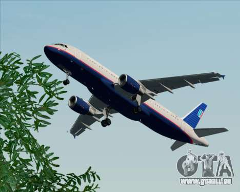 Airbus A320-232 United Airlines (Old Livery) pour GTA San Andreas salon