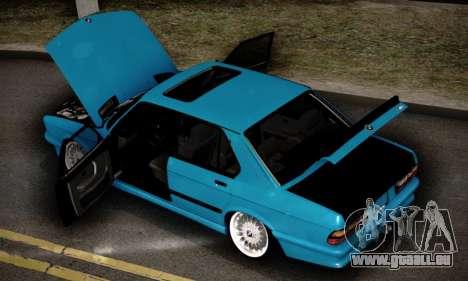 BMW M5 E28 pour GTA San Andreas vue de dessous