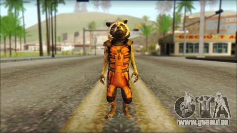 Guardians of the Galaxy Rocket Raccoon v2 pour GTA San Andreas