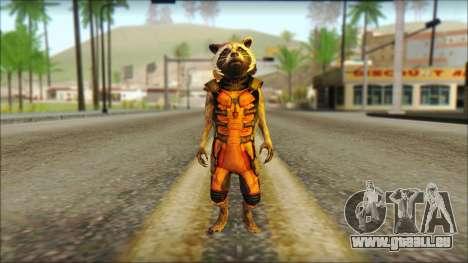 Guardians of the Galaxy Rocket Raccoon v2 für GTA San Andreas