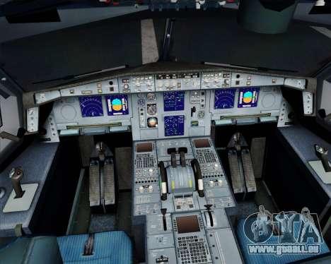 Airbus A340-313 Air France (New Livery) für GTA San Andreas obere Ansicht