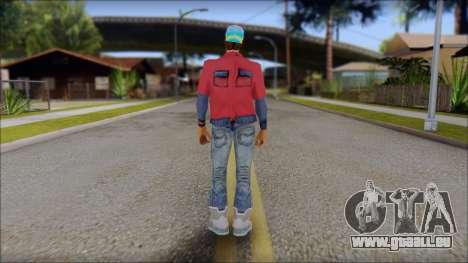 Marty from Back to the Future 2015 pour GTA San Andreas deuxième écran