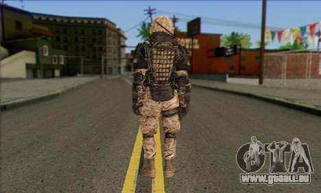 Task Force 141 (CoD: MW 2) Skin 15 pour GTA San Andreas deuxième écran