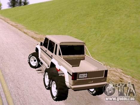 Benefactor Dubsta 6x6 pour GTA San Andreas laissé vue