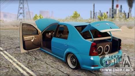 Dacia Logan BS GARAGE pour GTA San Andreas vue de droite