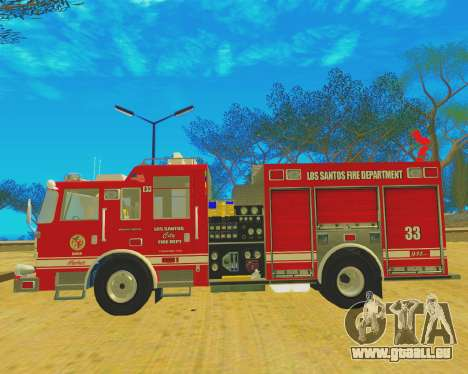 Pierce Arrow XT 2008 Los Santos Fire Department pour GTA San Andreas vue de droite