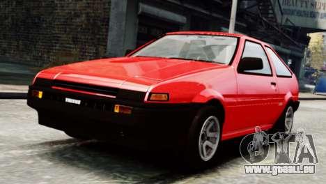 Toyota Sprinter Trueno AE86 SR pour GTA 4