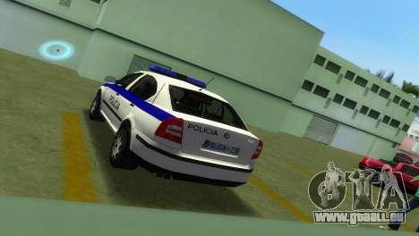 Skoda Octavia Albanian Police Car pour GTA Vice City vue arrière