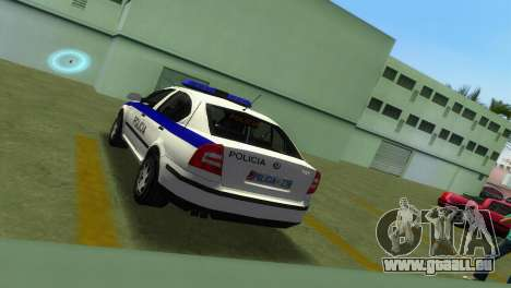 Skoda Octavia Albanian Police Car für GTA Vice City Rückansicht