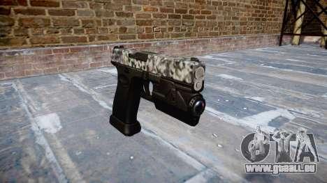 Pistole Glock 20 Diamanten für GTA 4