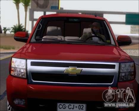 Chevrolet Silverado 2011 für GTA San Andreas Rückansicht