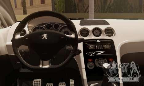 Peugeot RCZ GTS 2010 Tuned v2.0 pour GTA San Andreas sur la vue arrière gauche