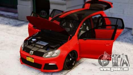 Volkswagen Golf R 2010 Racing Stripes Paintjob für GTA 4 rechte Ansicht