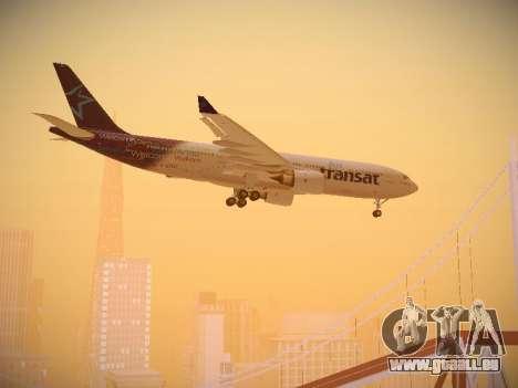 Airbus A330-200 Air Transat für GTA San Andreas Innenansicht