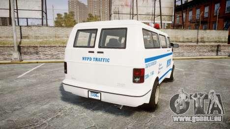 GTA V Bravado Youga NYPD pour GTA 4 Vue arrière de la gauche