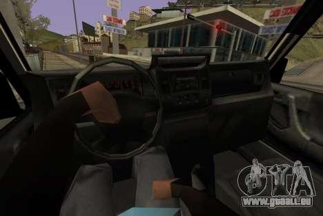Benefactor Dubsta 6x6 pour GTA San Andreas sur la vue arrière gauche