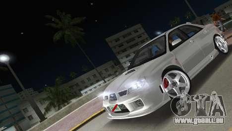 Subaru Impreza WRX STI 2006 Type 3 pour une vue GTA Vice City de l'intérieur