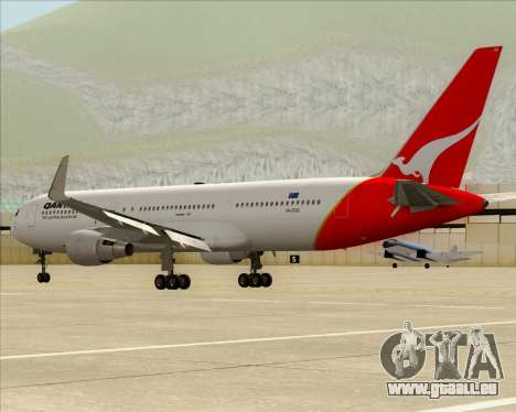 Boeing 767-300ER Qantas pour GTA San Andreas vue de côté