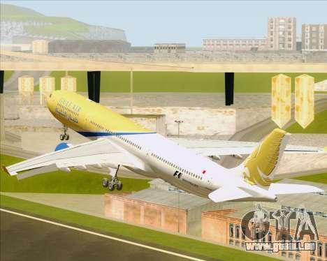 Airbus A330-300 Gulf Air für GTA San Andreas Unteransicht
