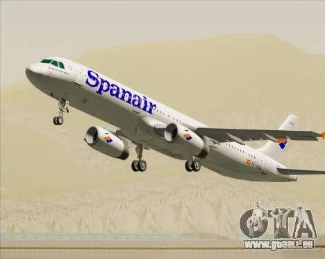 Airbus A321-231 Spanair pour GTA San Andreas roue