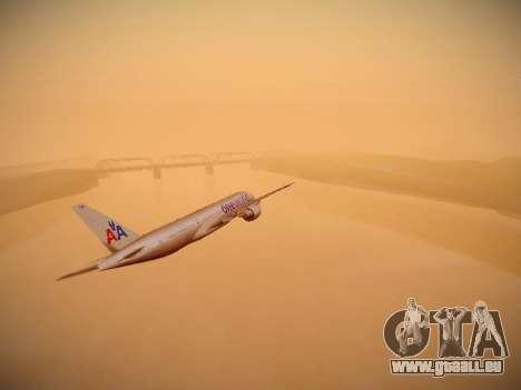 Boeing 777-223ER American Silver Bullet pour GTA San Andreas vue intérieure