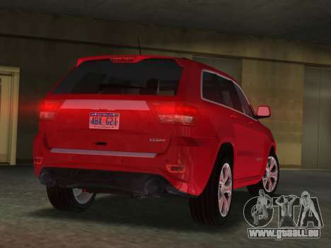 Jeep Grand Cherokee SRT-8 (WK2) 2012 für GTA Vice City linke Ansicht