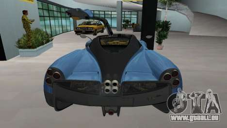 Pagani Huayra 2012 pour une vue GTA Vice City de la gauche