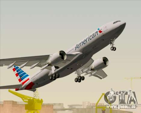 Airbus A330-200 American Airlines für GTA San Andreas obere Ansicht
