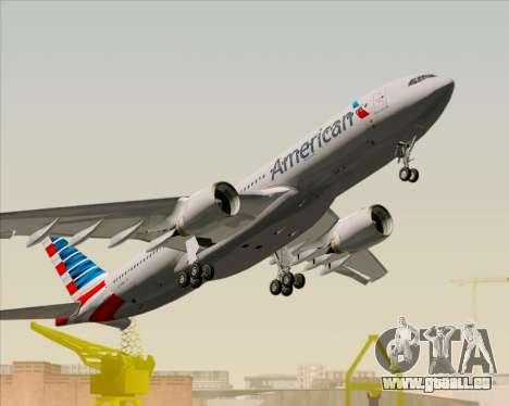 Airbus A330-200 American Airlines pour GTA San Andreas vue de dessus