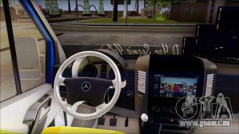 Mercedes-Benz Sprinter Dolmus pour GTA San Andreas vue de droite