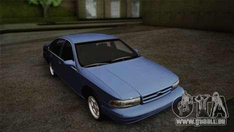 Chevrolet Impala 1996 pour GTA San Andreas sur la vue arrière gauche