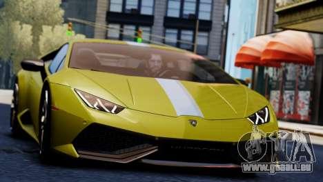 Lamborghini Huracan LP610-2 Valentino Balboni pour GTA 4 Vue arrière de la gauche